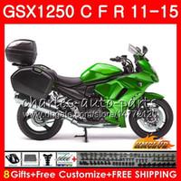 Kropp för Suzuki Bandit GSX1250F GSX1250FA GSX1250 C 11 12 13 14 15 23HC.2 GSXF1250 Metal Green Hot GSX1250C 2011 2012 2013 2014 2015 Fairing