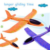 제조업체 도매 48CM 손 던지는 비행기 항공기 거품 이중 구멍 자이로 스코프 모델 어린이 장난감 도매 장난감 비행기