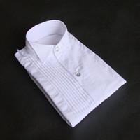 새로운 도착 100 % 코튼 소년의 웨딩 셔츠 아이 셔츠 화이트 색상 어린이 셔츠 (80 90 100 110 120 130 140 150) J801
