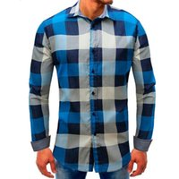 MUQGEW Rot Schwarz Plaid Shirt 2018 Sommer-Hemd mit kurzen Ärmeln Männer Lattice Denim Langarm Beefy Knopf solide Grund Bluse