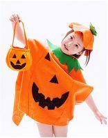 Costumi di Halloween per bambini non tessuto Zucca Abbigliamento Costumi Cosplay zucca Candy borse agiscono puntelli scherza i vestiti firmati ragazze