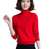 Женские свитера с высоким воротником Женщины шерстяные пуловер 2021 осень элегантный свободный трикотаж весенний дамский свитер дворил J199