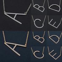 26 Letras Inicial Colar de Prata da Cor do Ouro Colar de Discos A-Z Alphabet Mulheres Kolye Collier Amigos Carta Família Colar de Jóias