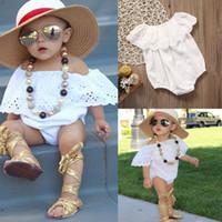 Recém-nascido Infantil Do Bebê Menina Rendas Romper Macacão Bodysuit Roupas Outfit Sunsuit