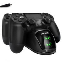 DUAL LED USB ChargeDock Docking Cradle Station Suporte para Sony Playstation 4 PS4 Game Controller Carregador sem fio