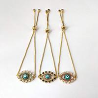 جودة عالية مايكرو تمهيد لامعة مكعب الزركون تشيكوسلوفاكيا العين موصل سوار للنساء فتاة سحر المجوهرات هدية BG307