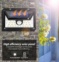 Güneş ışıkları açık hareket sensörü gece güvenlik duvar lambası 16 20 34 LED su geçirmez enerji tasarrufu Bahçe ön kapı Yard