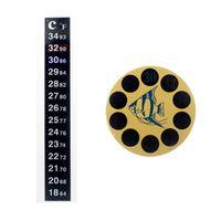 مقياس المزدوج حوض السمك خزان الأسماك السائل ميزان الحرارة ملصقا عصا على فهرنهايت الرقمية lcd لاصق قطاع مثبت DBC VT0200