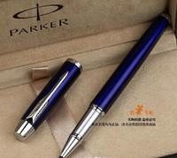 Gratuita di Parker blu di trasporto d'argento Rullo di Penna Firma Penna a sfera multi colore Penne di gel di Fornitori scrittura scuola ufficio di cancelleria