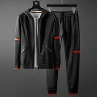 Men's Tracksuits Men (sweatshirts+pants) Luxury Autumn Winter Sport Mens Hoodies Elastic Waist Man Sets With Pants Plus Size 5XL