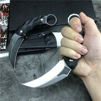 High Quality New Karambit Fixed Blade Claw Knife D2 Stone Wa...