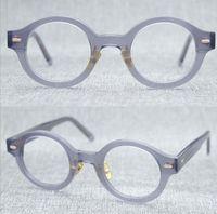 Erkekler Optik Gözlük Çerçeveleri Marka Retro Kadınlar Yuvarlak Gözlük Çerçevesi Saf Titanyum Burun Pad Miyopi Gözlük Gözlük Gözlük Ile