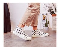 A wholesale 2019 spring women' s canvas shoe ulzzang hig...