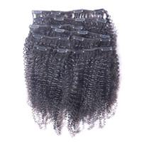 heißer unberührter Afro verworrener gelockter Klipp in den menschlichen Haar-Erweiterungs-natürlichen schwarzen vollen brasilianischen Remy Haar-Haar-Haarspange ins freies Verschiffen