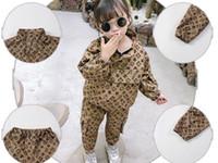 الفتيات الصبي تناسب ملابس الربيع الجديدة الإناث الطفل الأزياء أدوات الأدوات + السراويل بدلة قطعتين