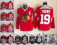 Yeni Dikişli Chicago 19 Jonathan Toews 27 Jeremy Roenick 21 Stan Mikita 29 Beyaz Siyah Kırmızı Yeşil CCM Blackhawks hokeyi Jersey