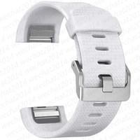 Reloj del silicón 1000PCS Band Banda de reloj del ritmo cardíaco inteligente Nueva Pulsera usable correa del cinturón de Fitbit Carga 2