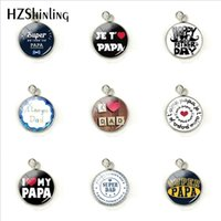 Je t' aime Papa Stainless Steel Charms Fathers Gifts Sup...