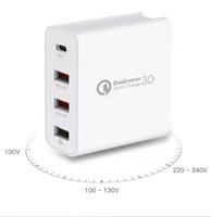 48W Multi Quick Charge 3.0 USB Chargers PD TypeC QC3.0 Turbo Wall Fast Phone Charger For iPhone 11 Pro Max