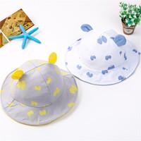Novos Chapéus de Algodão Dos Desenhos Animados Do Bebê Crianças Copter Balde Chapéu Meninos Meninas Sunhat Crianças Chapéu de Sol Caps 15230