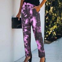 Женские брюки Cakris Женщины Брюки Tie-Dye Print Sport Activewear Jogger Track Pocket Прямые Повседневные Брюки 2021 Pantalon Femme