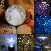 Univers LED lampe colorée Rotation clignotant Star Kids bébé Cadeau de Noël Starry Sky Night Light Magic Planet Projecteur Terre