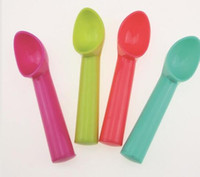 100шт 17.5*3 см сладкий цвет мороженое совок пластиковые дыни Baller сгущает цилиндрическая ручка десертная ложка кухонный инструмент