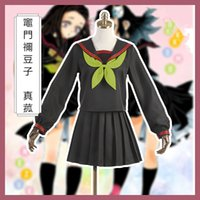 Démon Slayer: Kimetsu No Yaiba Kamado Nezuko / Makomo Sailor Costume cosplay costume