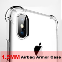 1.5mm TPU 에어백 Samsung S10 E 플러스 M20 A8S A30 A50 A10 J4 Core Huawei P30 Lite Y6 Y7 Y9 2019 Mate 20 iPhone XA Max XR 7 8