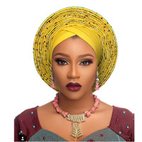 الأفريقي headtie جديد اسو headtie ووالرقص الجميل العمامة الأفريقية النيجيرية رصع جيلي لصناعة السيارات التفاف الرأس عقال