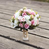Свадебный букет ручной работы искусственный цветок роза Buque Casamento Bridal букет для украшения свадьбы Рамос де Новия