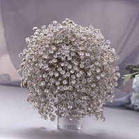 Sconto Bouquet di lusso Handmade Bridal Bridal Bridals Crystals Flowers de Mariage Rose