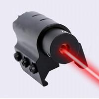 Mini 1mW en alliage d'aluminium tactique laser rouge Dot Sight Avec 20 mm Picatinny Weaver montage sur rail pour fusil de chasse Pistolet Fusil à pompe.