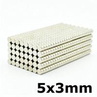 Güçlü Neodimyum Mıknatıs Disk 5x3 Mikro Buzdolabı Mıknatısları Küçük Yuvarlak Aimant Süper Paslanmaz Mini Magnes Ev Okul Ofis Kullanımı