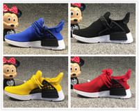 Adidas human race New designer human race kids Scarpe running nero giallo ragazzi ragazze primeknit runner sport Sneakers Bambini Trainner Althelitic Shoes
