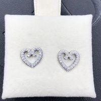 Süße Mode Liebe Ohrringe für Pandora 925 Sterling Silber mit CZ Diamond Love Wirbel Hohe Qualität Damen Liebe Ohrringe mit Original Box