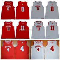 Indiana Hoosiers 2019 Romeo Langford Isiah Thomas Victor 0 11 4 Oladipo baloncesto de la universidad de New inicio de color rojo cosido de la vendimia Camisa