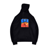 Scott Travis Hommes Hoodies High Street Fashion SHITR Sun Flamme d'impression Sweat à capuche en vrac