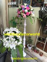 المركزية نمط جديد للزينة الجدول الزفاف لحامل الزفاف الأبيض الأبيض شجرة ريشة نعام decor0799