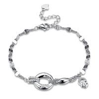 S925 Sterling Silber Twist Ketten Charme Armbänder Authentische Diamanten Meditation Modische Zirkon Charming Schmuck Hochzeit Pop POTALA206