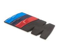 6 pieces 84x32cm Metal logo Stickers Black M / / / M Car Silver emplam Styling شارة decals 3D Sticker for BMW M