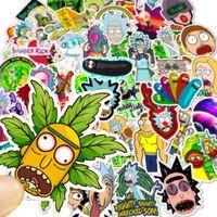 50 pcs / Mitigé Autocollants voiture populaire bande dessinée Rick Anime pour ordinateur portable Planche à roulettes Tapis de vélos Moto PS4 téléphoniques Bagages Decal Stickers Pvc