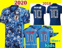 Loja 2020 Japan Home Captain Tsubasa Jersey 9 Okazaki 10 Kagawa Nakajima Atom Tsubasa 22 YOSHIDA Número desenhos animados camiseta Tops Thai quatlity