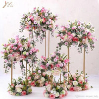 shiny gold Popular Floor Vases Brief Flower Stand Metal Road...