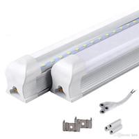 통합 T8 LED 튜브 4FT 22W SMD 2835 튜브 라이트 램프 1.2M 85-265V 전구 LED 형광등 조명