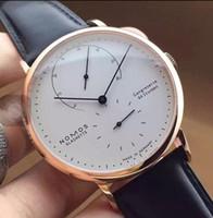 2019 Marca nomos Hombres Reloj casual de cuarzo Reloj deportivo Relojes para hombres Reloj de cuero masculino Pequeñas esferas de trabajo Relogio masculino