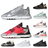 Adidas Nite jogger Para hombre del estáticas de las de los zapatos corrientes Core Negro Naranja de Seguridad Vial de hielo de menta blanco zapatillas deportivas 36-45