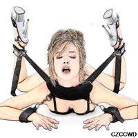 베이비 돌 란제리 섹시 핫 에로틱 Langerie BDSM 수갑 목 베개 발목 팔목 키트 란제리 포르노 섹시한 의상 Lenceria Mujer