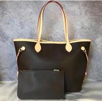 FH37 # 2PCS / SET High Qulity Classic Designer Diseñador para mujer Bolsos de las mujeres Composite Tote de alta calidad PU de cuero embrague bolsas de hombro femenino Purso w