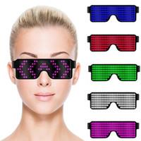 8 طرق سريعة فلاش USB الحزب بقيادة USB تهمة مضيئة نظارات شمسية الوهج حفل ضوء لعب زينة عيد الميلاد MMA2342-1 جديدة